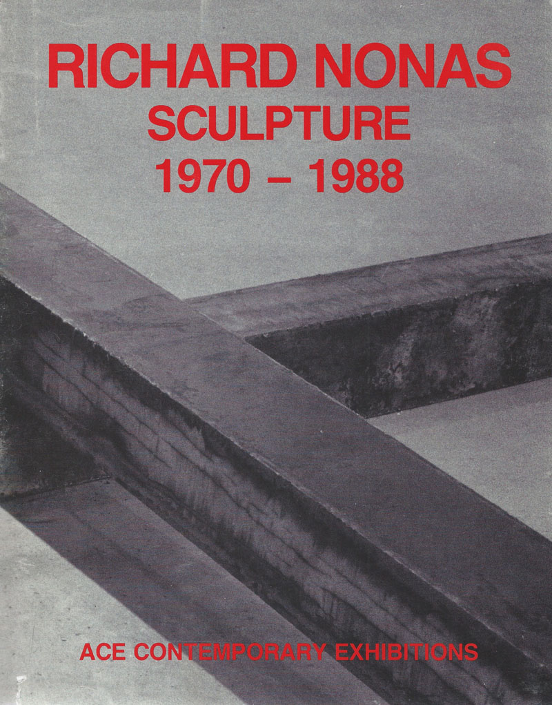 Richard Nonas - Sculpture 1970-1988